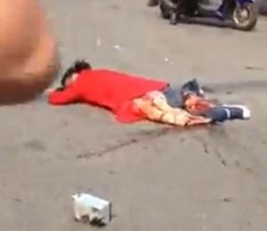 潍坊电动车车祸现场视频 下身没了的挣扎